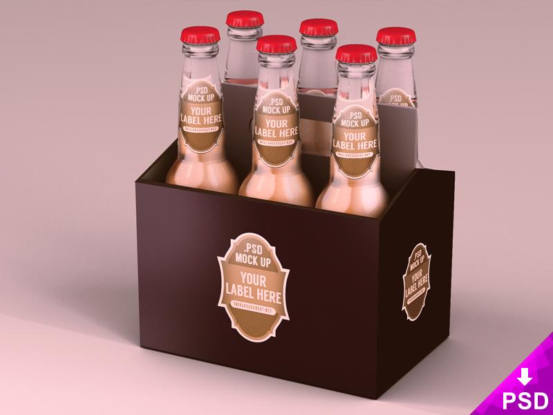 Free Six Pack Beer Packaging Mockup 21 Mb Thislooksgreat1