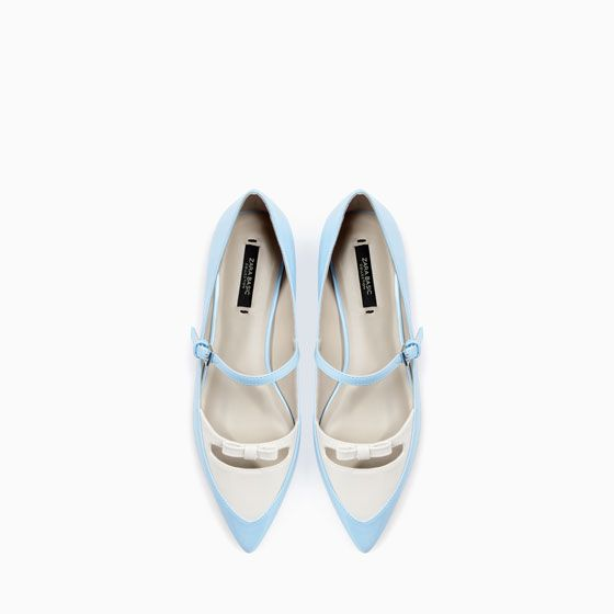 Image 2 of POINTED BALLERINAS WITH BOW from Zara