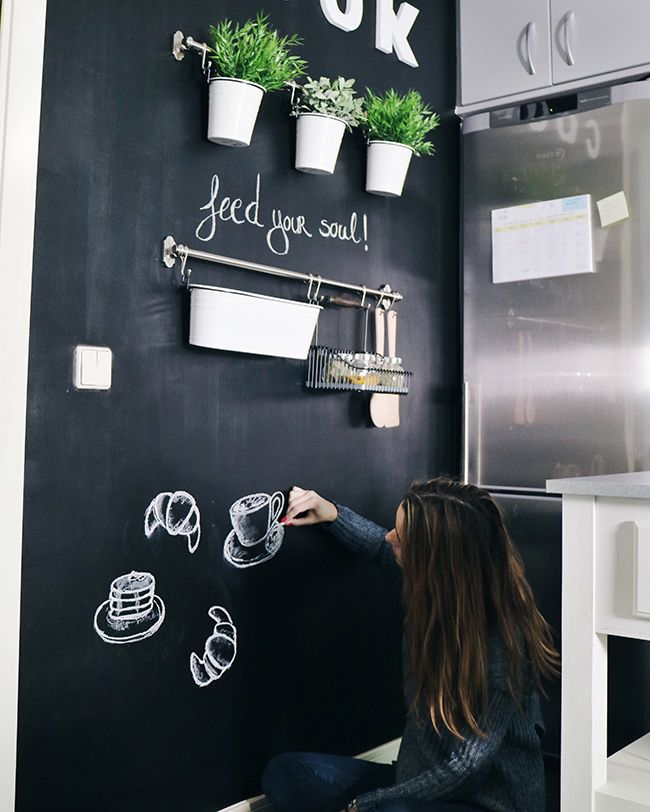 DIY: Cómo Crear Una Pared De Pizarra Para Decorar Tu