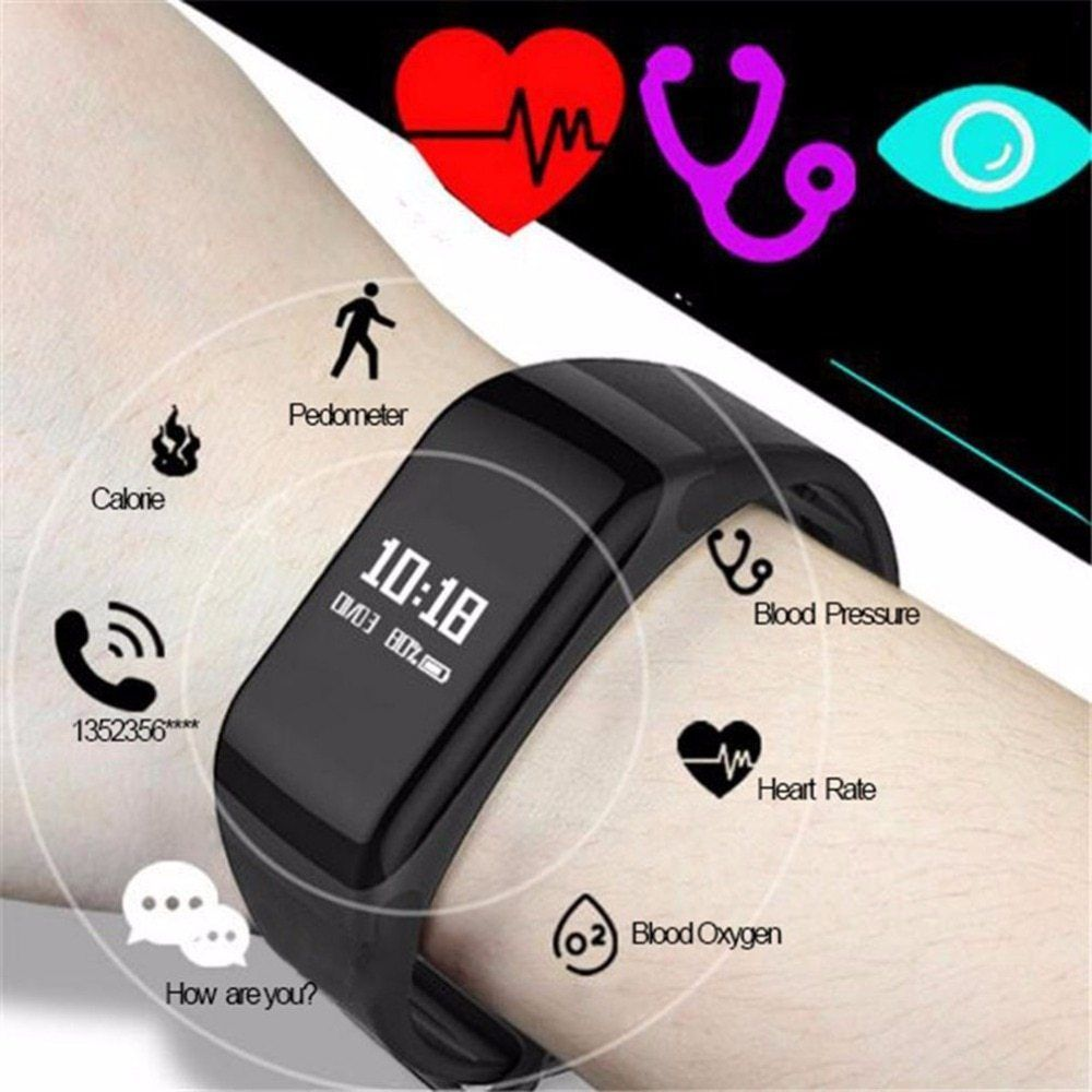 Men S Watch Waterproof Sports Watch Fashion Health Oximetry Blood Pressure Monitor Heart Rate Fitness Tracker Hot Blutdruck Uhr Test