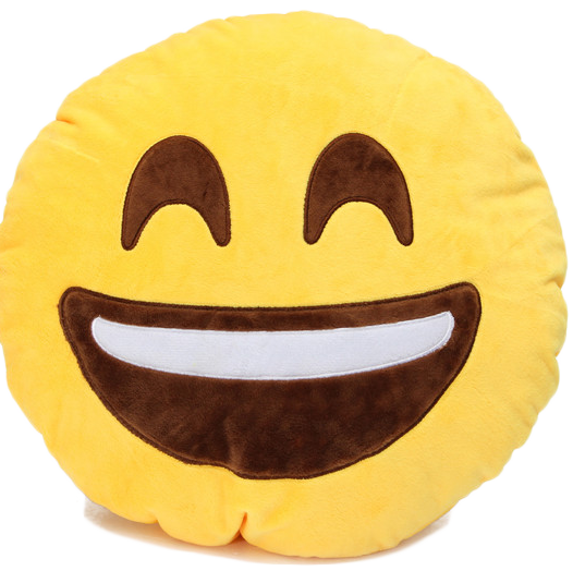 Emoji Super Happy Pillow Emoji Pillows Emoji Accessory Pillows