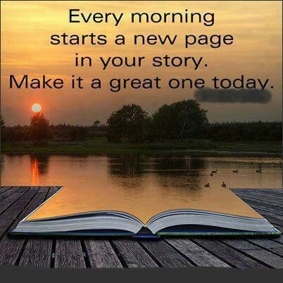 Grab your pen and and get ready to write another beautiful day in your personal fairytale.  Have an amazingly beautiful day.