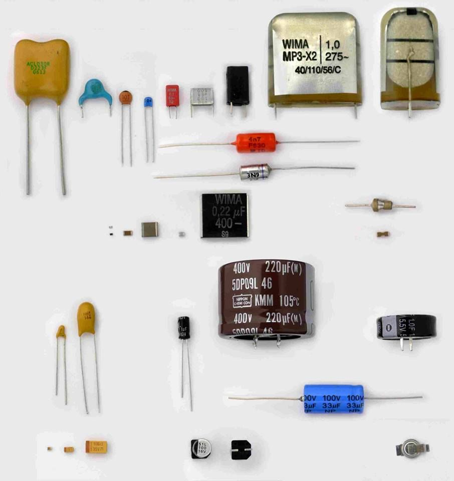 Mention the name of following each type of capacitors ...