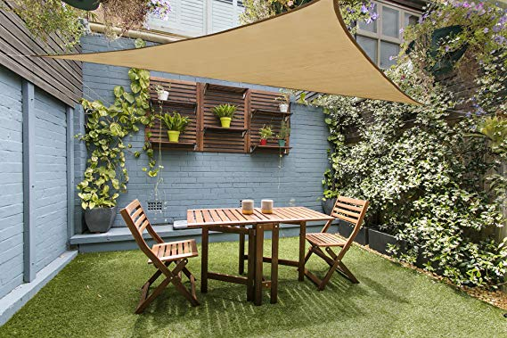 Amazon Com Love Story 12 X 12 X 12 Triangle Sand Uv Block Sun Shade Sail Perfect For Outdoor Patio Garden Sun Sail Shade Shade Sails Patio Pergola Shade