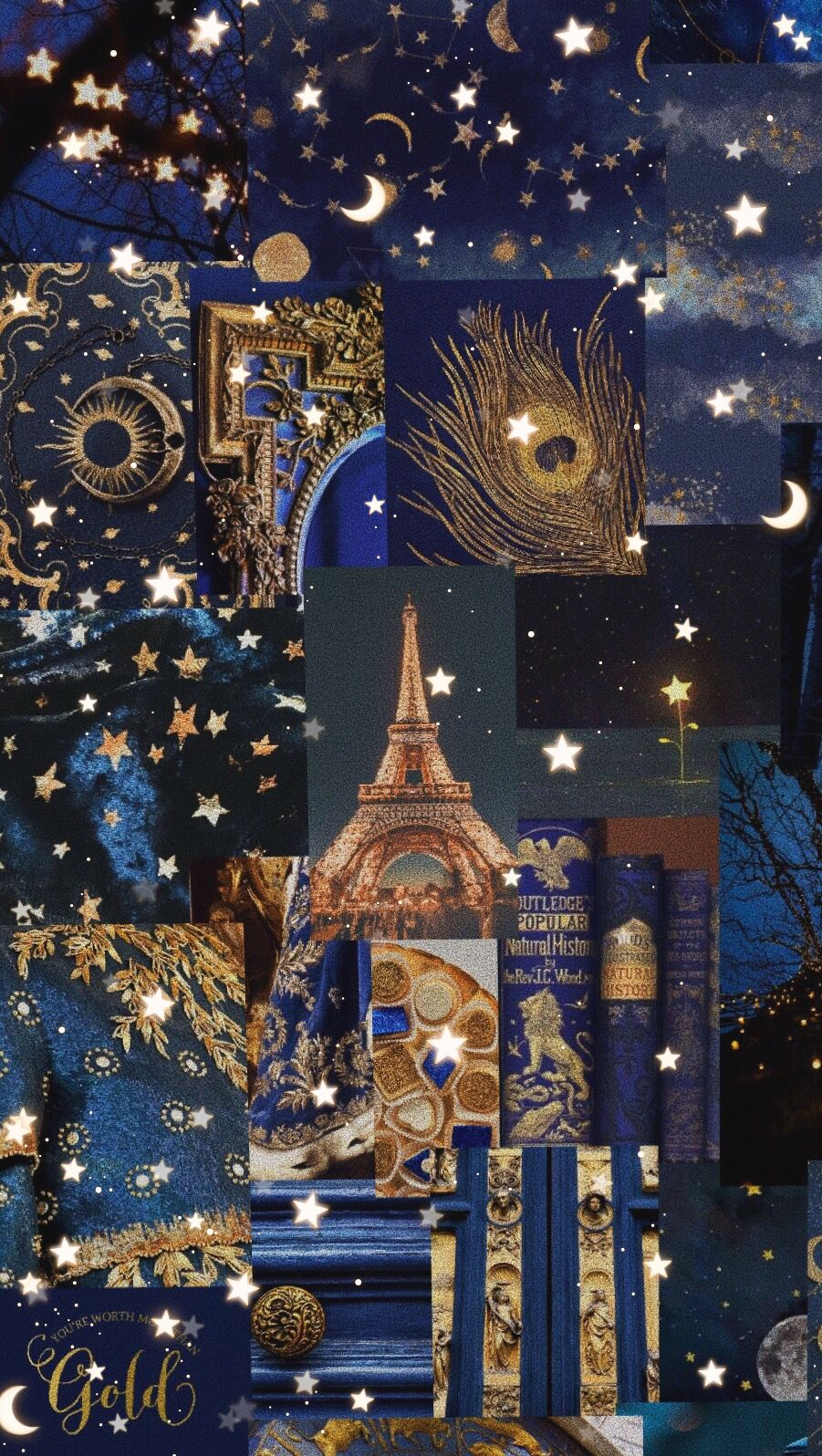 Navy And Gold Aesthetic Wallpaper Blue Wallpaper Phone Blue Wallpaper Iphone Cute Galaxy Wallpaper