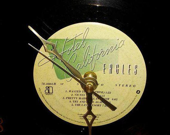 7 Vinyl Record Wall Clock The Eagles Hotel California