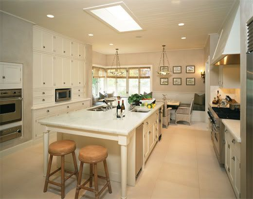 kitchen island with end seating | Pictures- small kitchen ...