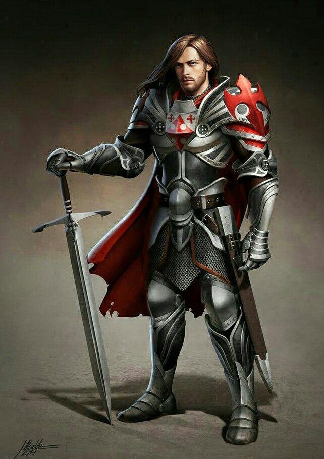 Human Male Paladin Knight - Pathfinder PFRPG DND D&D d20 fantasy | NPCs | Fantasy, Rüstung