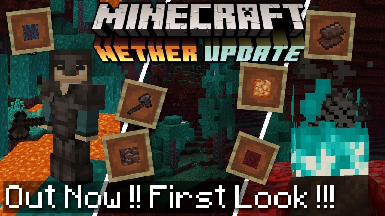 Minecraft NETHER UPDATE OUT NOW! New Mobs, Blocks