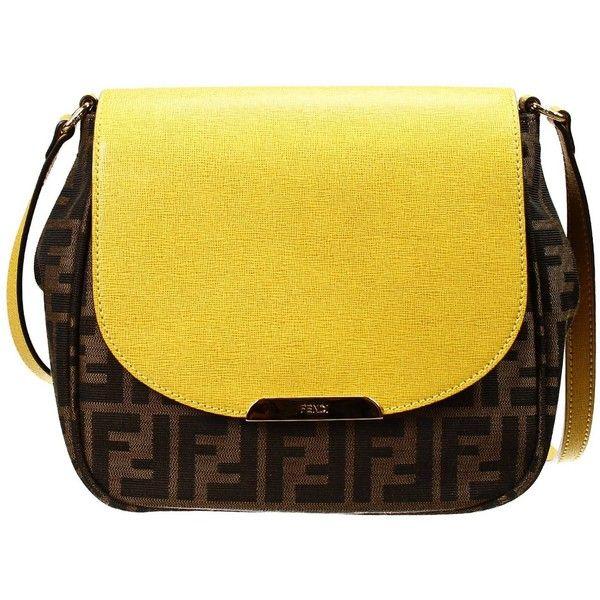 Fendi Bags (515 PAB) ❤ liked on Polyvore featuring bags, handbags, giallo, fendi handbags, yellow purse, fendi purses, yellow bag et fendi bags
