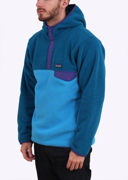 Patagonia Synchilla Snap-T Fleece Hoodie - Electron Blue - Patagonia from  Triads UK