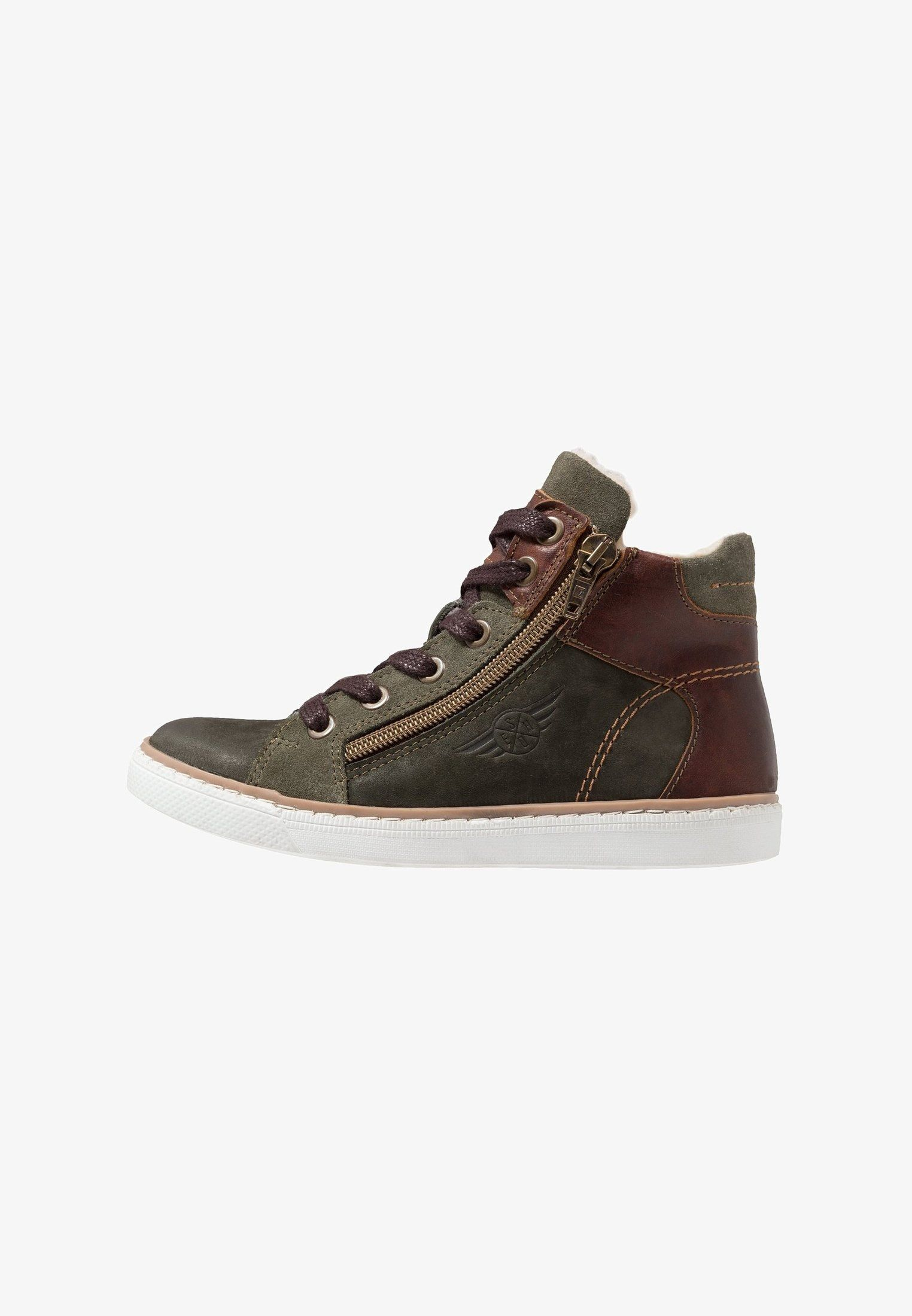 best supplier hot product many styles High-top trainers - dark olive @ Zalando.co.uk 🛒   boys ...