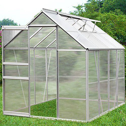 Aluminium Gewächshaus für den Garten. 5,85m³ / 7,6m³ Alu