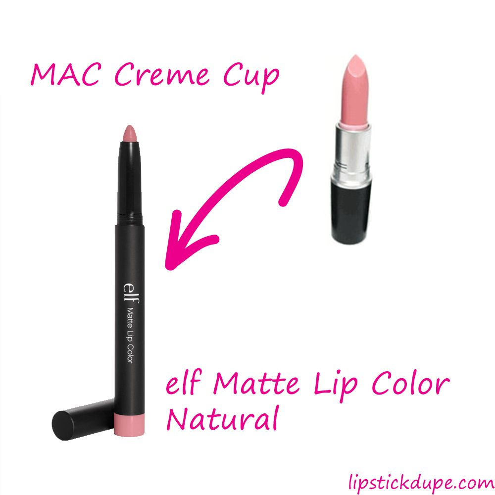 mac creme cup dupe elf natural wwwlipstickdupecom elf