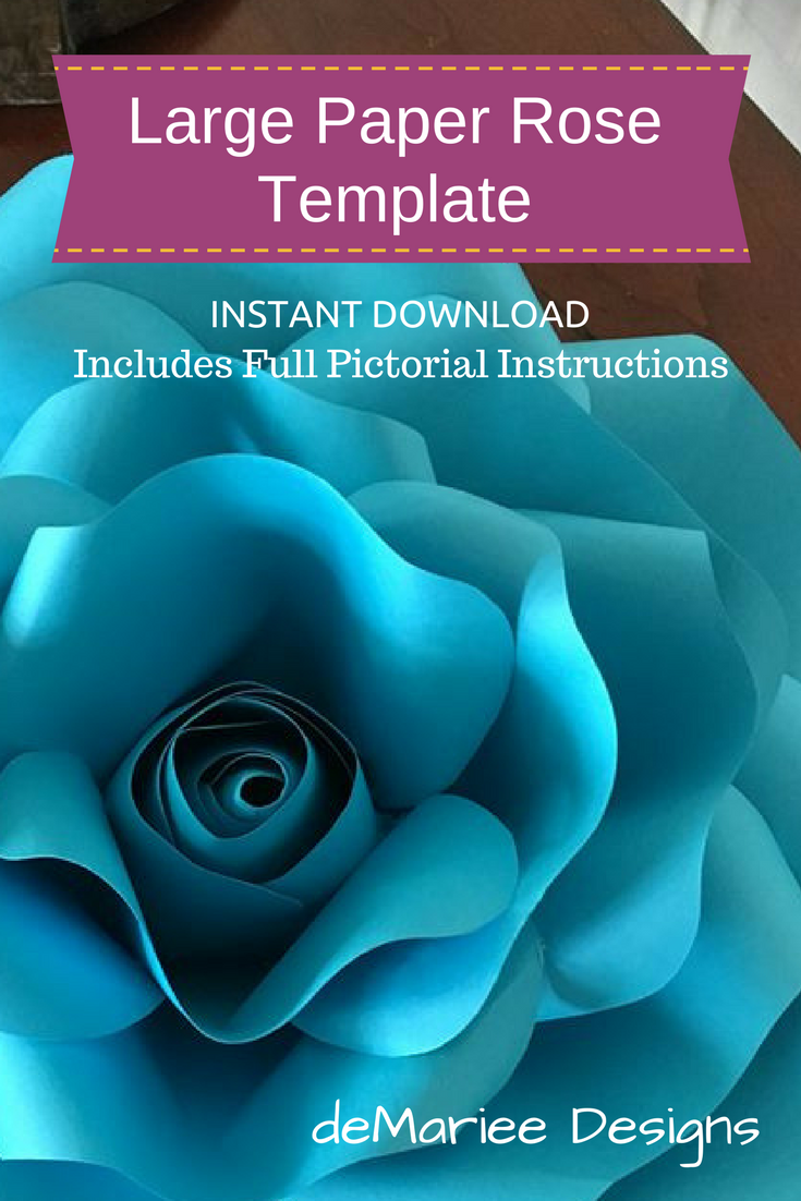 Large Paper Flowers Flower Template Paper Rose Giant Paper Flowers