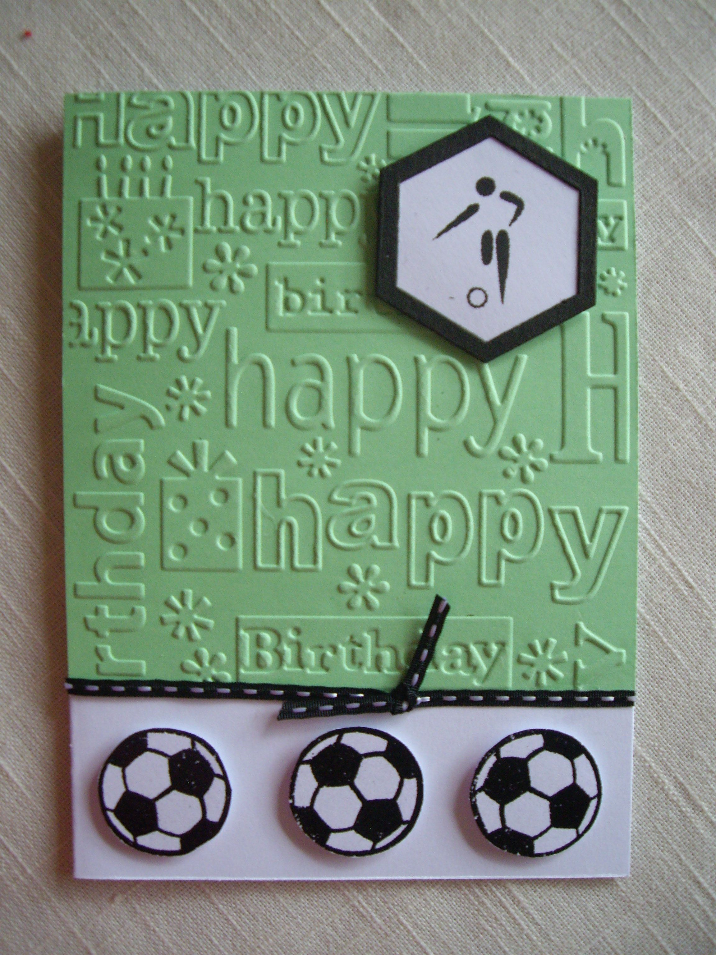 Soccer Themed Card Birthday Cards For Men Birthday Cards Diy Kids Birthday Cards
