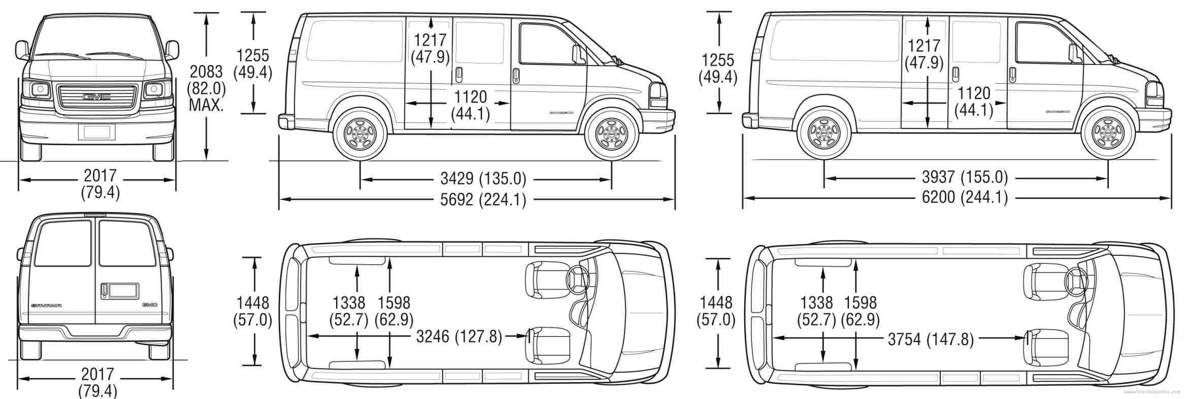 Astro Gmc Safari Interior Dimensions Van For To Camper Conversion