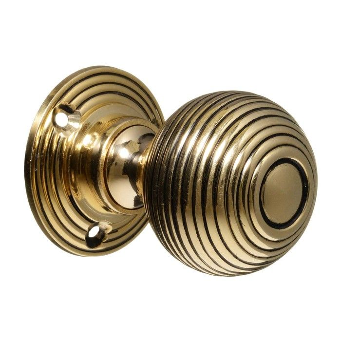Victorian Door Knobs - Brass Beehive (pair) (CDC-1-BRBH) | Homely ...