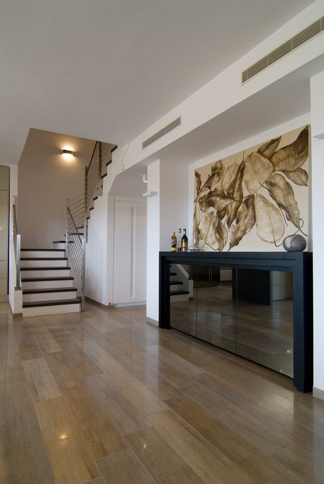 Porcelain Tile That Looks Like Wood Reviews Hall Contemporary With