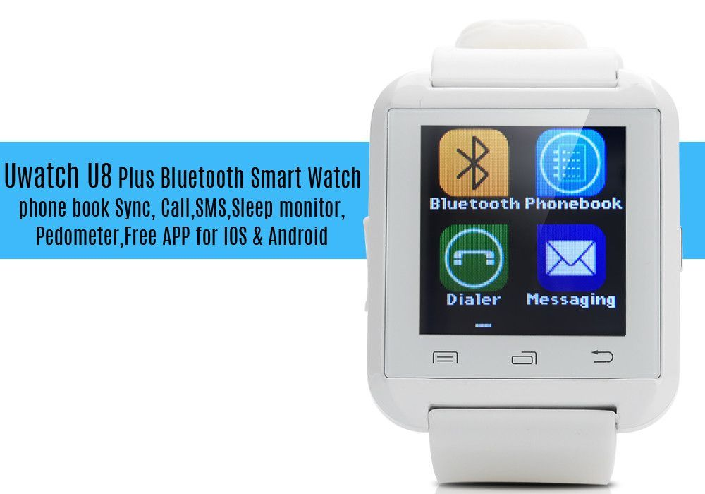Uwatch U8 Plus Bluetooth Smart Watch phone book Sync