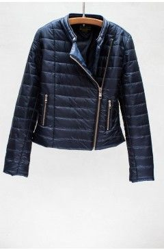 QUILTED PUFFER JACKET IN NAVY by CLOSED: 100% Nylon Fill : 100% Polyester.  $319.00