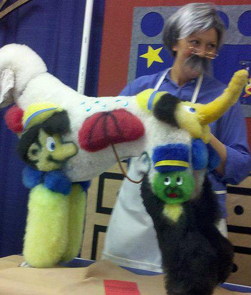 Pup Occhio I Was Totally Fine With It All Until They Added Jiminy Cricket On My Rear Dog Grooming Crazy Dog Dog Costumes