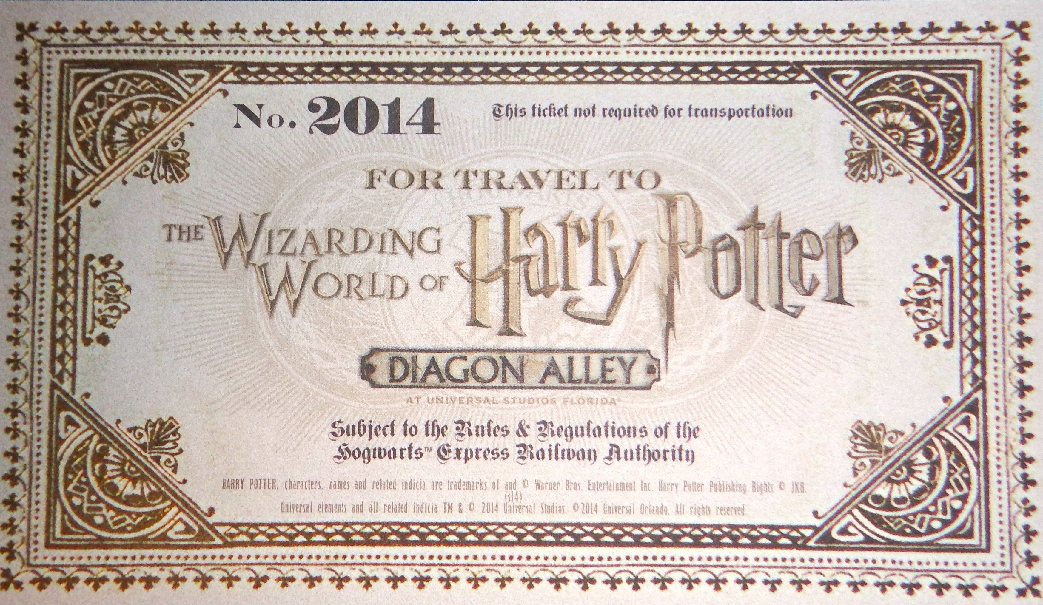 Diagon Alley Invite Unboxing For Wizarding World Of Harry Potter Preview At Universal Orlando Reso Hogwarts Express Ticket Harry Potter Ticket Hogwarts Express