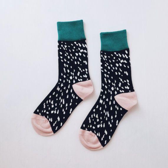 You like mismatched socks with polka dots