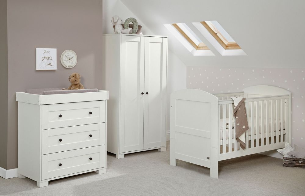 Mamas Papas Harrow 3 Piece Nursery Furniture Set White From