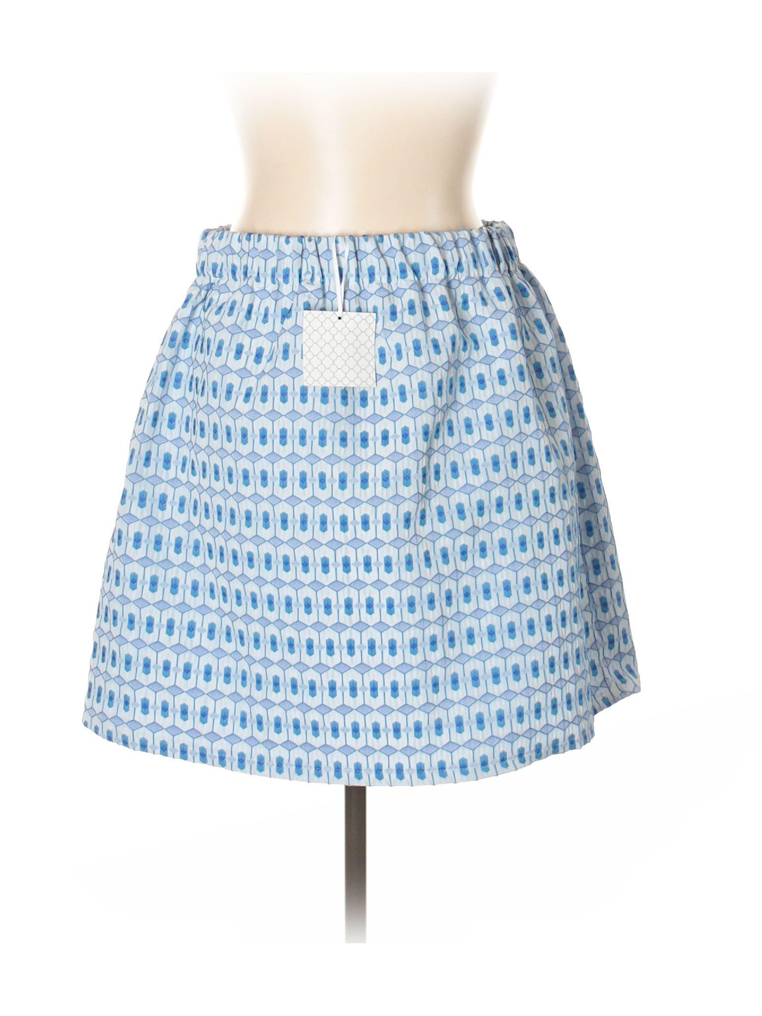 Pim + Larkin Casual Skirt: Size 12.00 Blue Women\'s Bottoms - New ...
