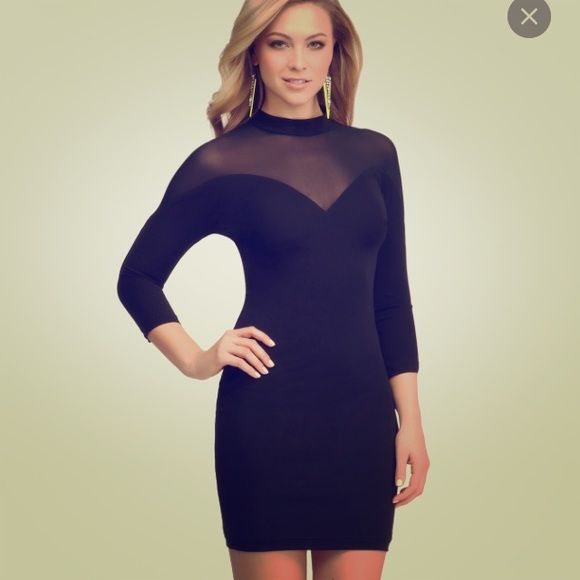 New Bebe Black Fitted Bodycon Cutout Dress XS XXS New w tags. Tag is XXS. But this fits more like a Bebe xs. Fitted w slight stretch. Mesh areas. Zips in back. Org $149. Pm prices are firm. I do 20% discount w pp. bebe Dresses