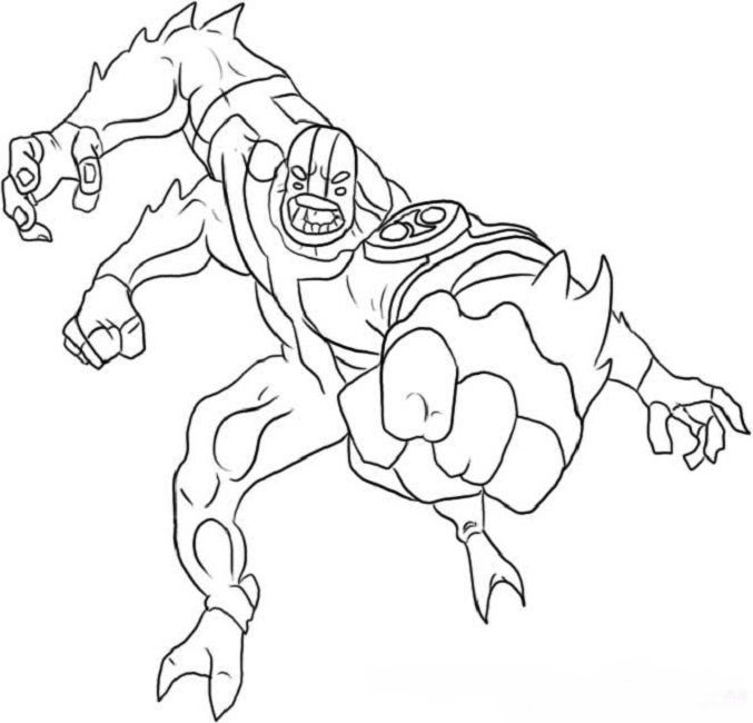 Ben 10 Coloring Pages Four Arms Four Arms Coloring Pages Ben 10 Alien Force
