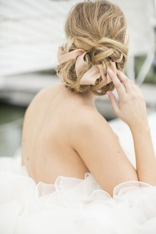 Ribbon Updo - Wedding Hairstyle Ideas