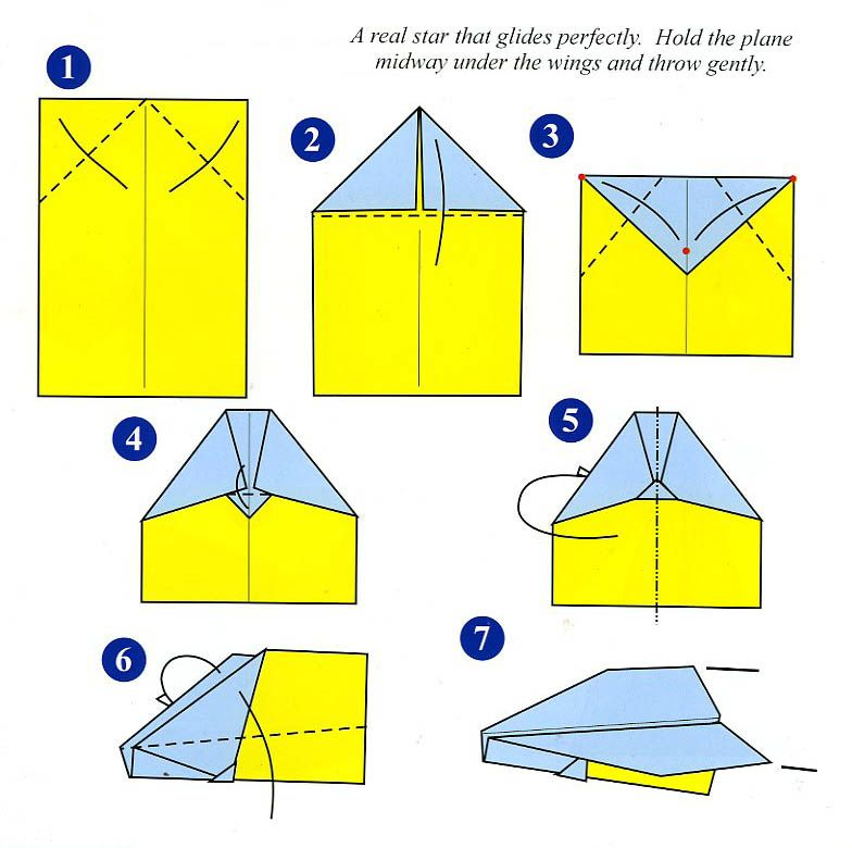 Paper Airplane Directions For Children - Google Search