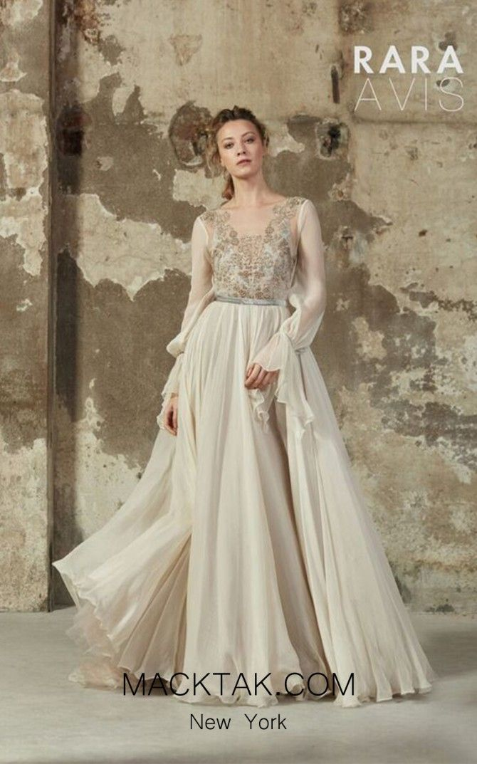 Long Sleeve A Line Dress By Rara Avis Mleria Macktakmacktakmartbridal Bohemian Style Wedding DressesUnique