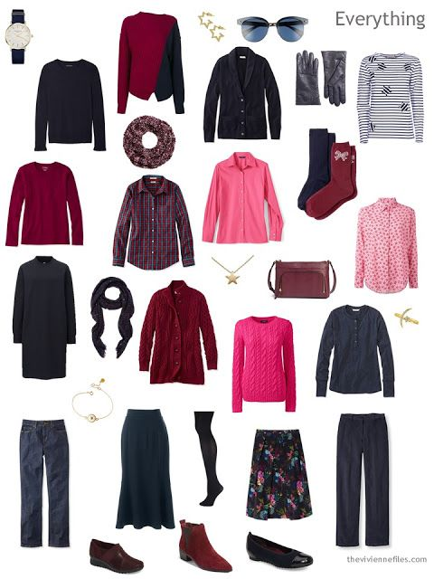 How To Accessorize A Navy-Based Fall Capsule Wardrobe