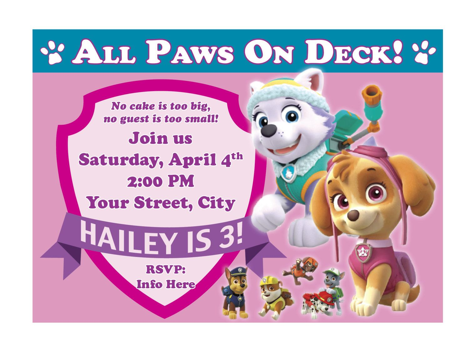 How To Paw Patrol Birthday Invites Graceful Appearance Paw Patrol Birthday Invita Paw Patrol Birthday Invitations Paw Patrol Invitations Paw Patrol Birthday