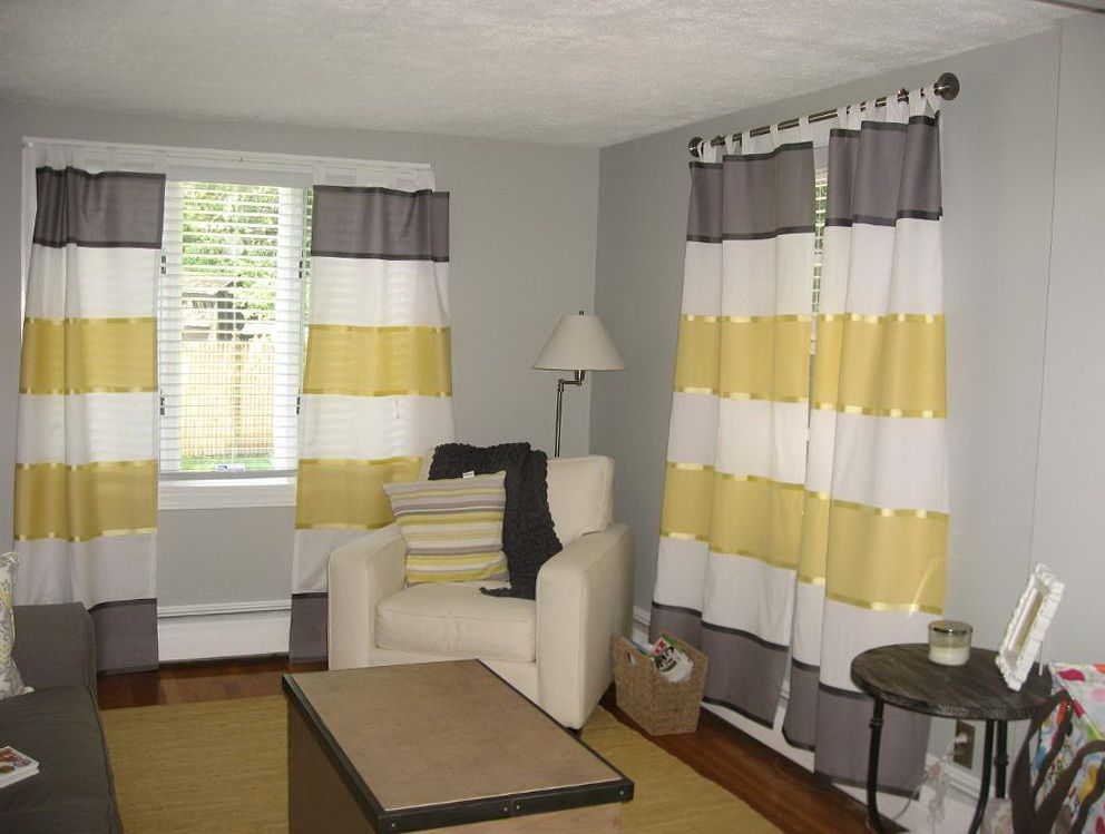 yellow boy free striped from image with little white stock photography the curtains peeking royalty out behind shirt and