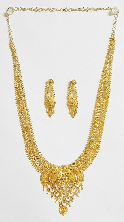 Gold Plated Bridal Necklace Set Metal Indian Bridal Jewelry