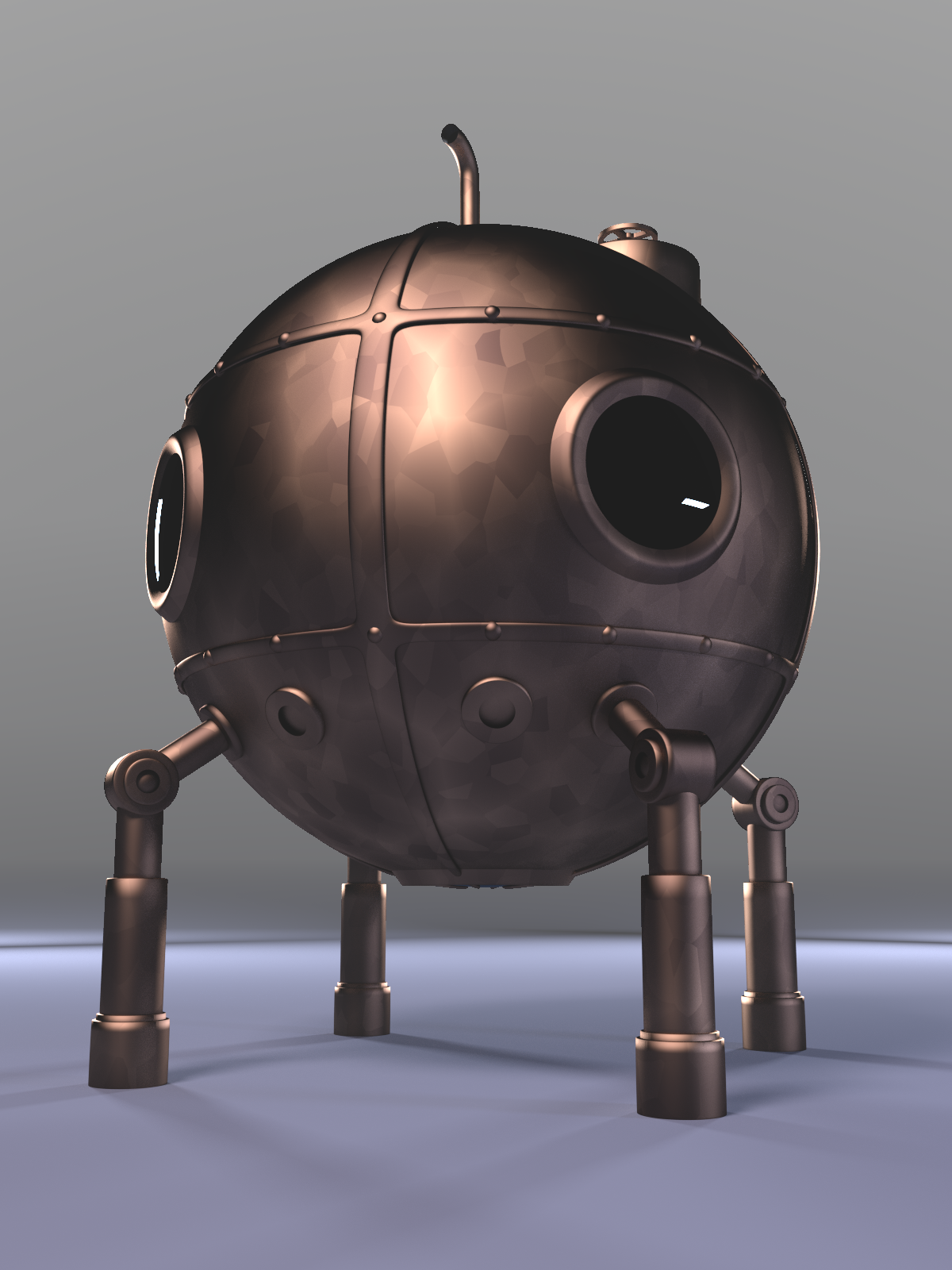 3D Model Steampunk Bathysphere by on