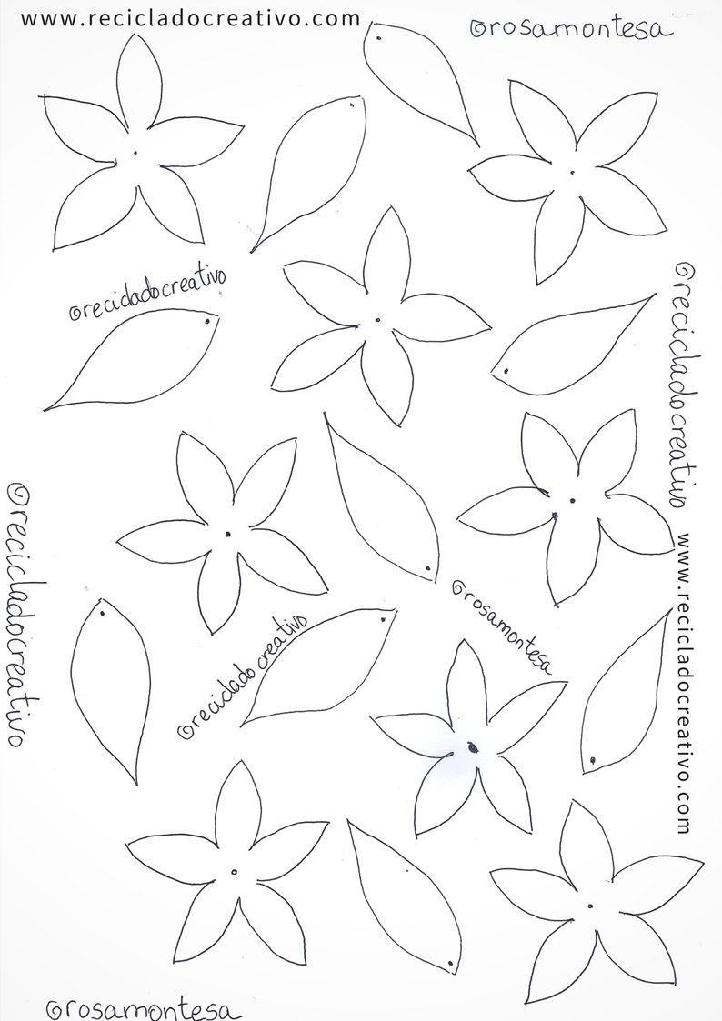 Plantillas Patrones O Moldes Para Hacer Flores Jazmines Reciclado Creativo Por Rosa Montesa En 2020 Flor Goma Eva Hacer Flores Patrones