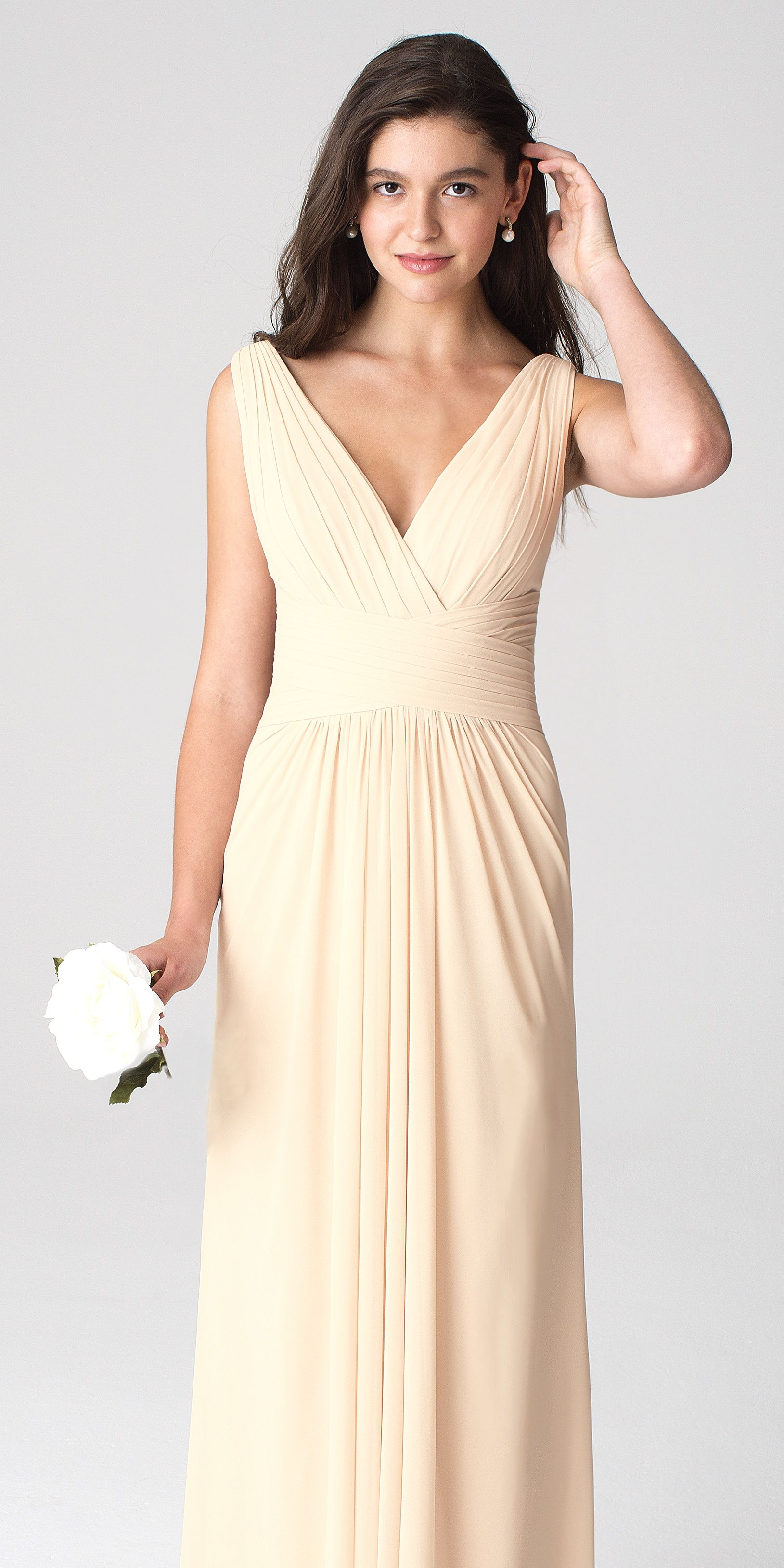 ef2abf3597a1 Bill Levkoff Style 1277 in Champagne | Bridesmaids Dresses by Bill ...