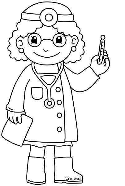 Doctoracolorear Meserii Profesiones Manualidades Para Niños Y