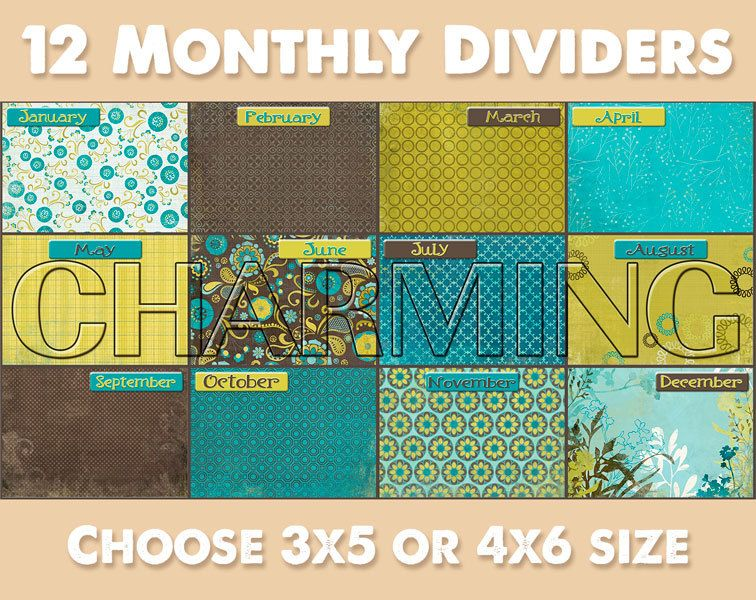 Monthly dividers with dated index cards etsy index