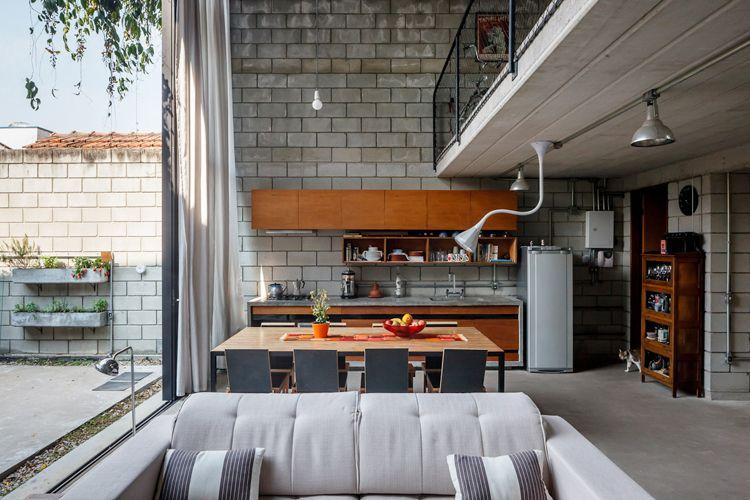 Casa Maracanã Terra e tuma, Design de casa e Casa industrial
