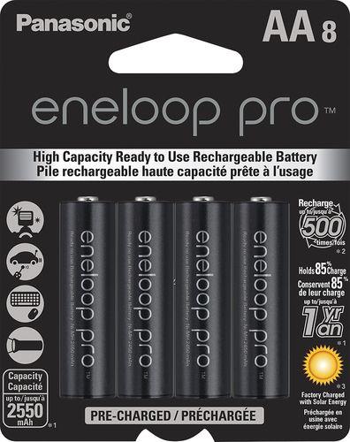 Panasonic Eneloop Pro Rechargeable Aa Batteries 8 Pack Bk 3hcca8ba Best Buy In 2021 Rechargeable Batteries Panasonic Recharge
