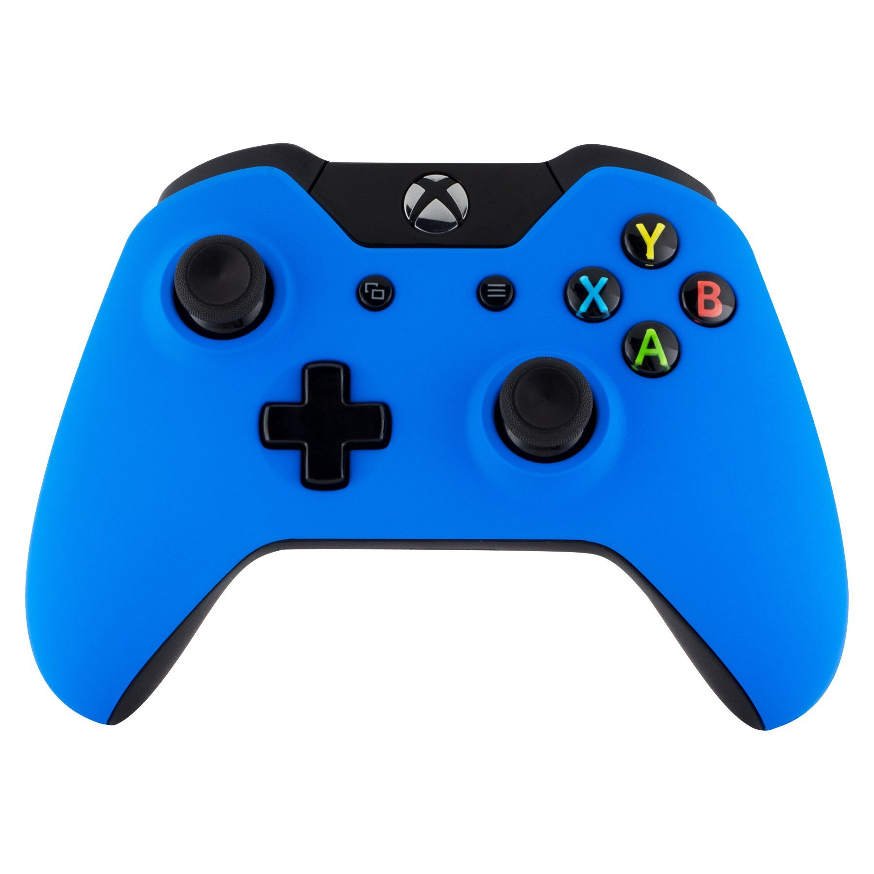 Extremerate Blue Soft Touch Front Shell Face Plate With Left Right Panel Handle Side Rails For Xbox One Standard And W 3 5mm Xbox One Xbox One Controller Xbox