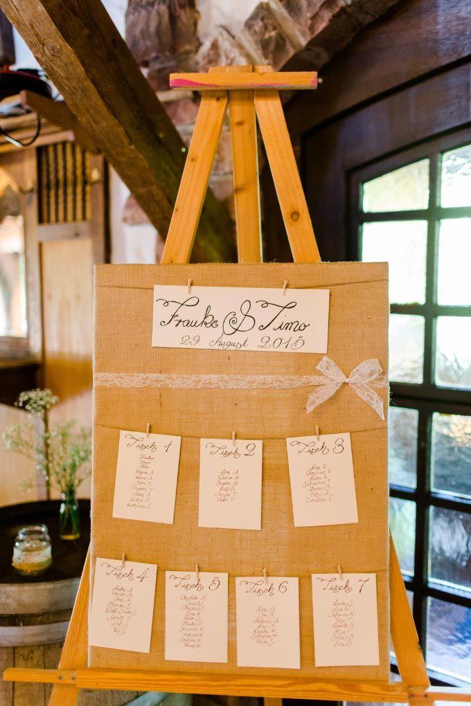 Diy Sitzplan Tischplan Bei Der Hochzeit Hochzeitsfeier Im