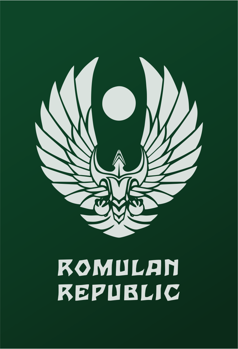 Star Trek Logo Flat Design Romulan Republic Mirror Star Trek Logo Flat Design Romulan Republic Mirror Star Trek Art Star Trek Symbol Star Trek Characters