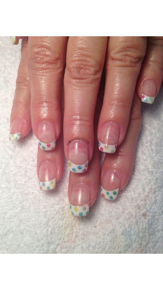 Shellac Nail Art Polka Dot Nail Art Cnd Additives Nail Art Cnd